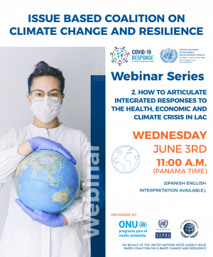 Webinar series: How to articulate integrated responses to the health, economic and climate crisis in LAC